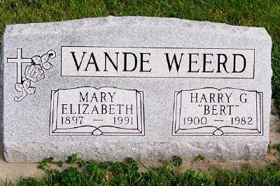 VANDEWEERD, MARY ELIZABETH - Sioux County, Iowa | MARY ELIZABETH VANDEWEERD