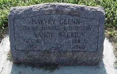 VANDEWEERD, HARVEY GLENN - Sioux County, Iowa | HARVEY GLENN VANDEWEERD