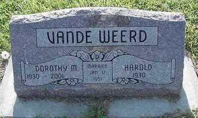 VANDEWEERD, DOROTHY - Sioux County, Iowa | DOROTHY VANDEWEERD