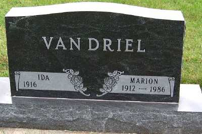 VANDRIEL, MARION - Sioux County, Iowa | MARION VANDRIEL