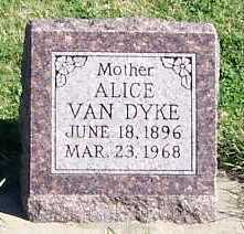 VANDYKE, ALICE - Sioux County, Iowa | ALICE VANDYKE