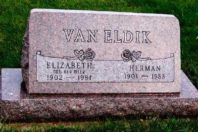 VANELDIK, ELIZABETH - Sioux County, Iowa | ELIZABETH VANELDIK