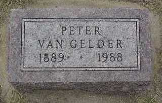 VANGELDER, PETER - Sioux County, Iowa | PETER VANGELDER