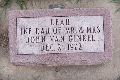 VANGINKEL, LEAH - Sioux County, Iowa | LEAH VANGINKEL