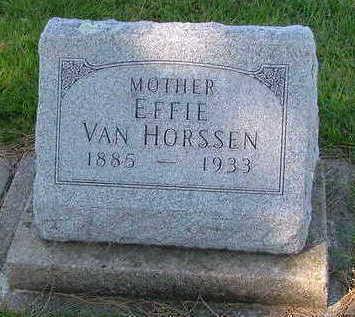 VANHORSSEN, EFFIE - Sioux County, Iowa | EFFIE VANHORSSEN
