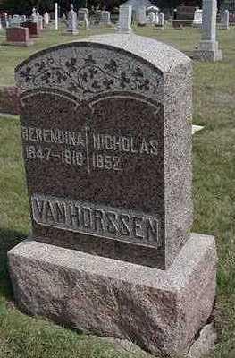 VANHORSSEN, NICHOLAS - Sioux County, Iowa | NICHOLAS VANHORSSEN