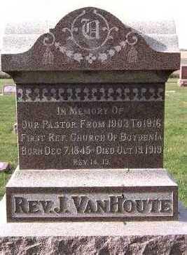 VANHOUTE, J. (REV.) - Sioux County, Iowa | J. (REV.) VANHOUTE