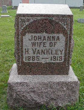 VANKLEY, JOHANNA WIFE OF H. - Sioux County, Iowa | JOHANNA WIFE OF H. VANKLEY