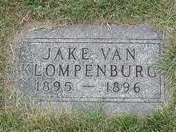 VANKLOMENBURG, JAKE  D.1896 - Sioux County, Iowa | JAKE  D.1896 VANKLOMENBURG