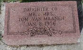 VANMAANEN, DAUGHTER - Sioux County, Iowa | DAUGHTER VANMAANEN