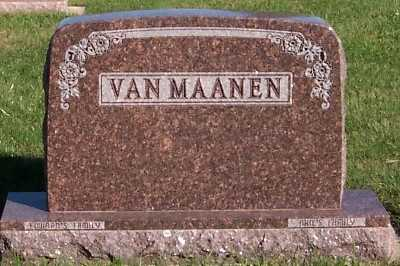 VANMAANEN, HEADSTONE - Sioux County, Iowa | HEADSTONE VANMAANEN