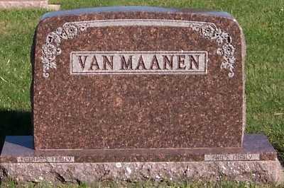 VANMAANEN, HEADSTONE - Sioux County, Iowa | HEADSTONE VANMAANEN