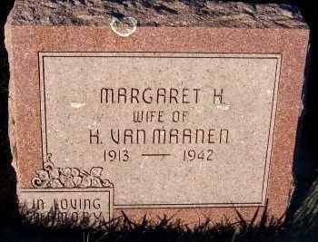 VANMAANEN, MARGARET H. (MRS. H.) - Sioux County, Iowa | MARGARET H. (MRS. H.) VANMAANEN