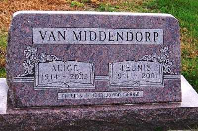 VANMIDDENDORP, ALICE - Sioux County, Iowa | ALICE VANMIDDENDORP