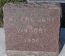 VANOORDT, WILENE JANE - Sioux County, Iowa | WILENE JANE VANOORDT