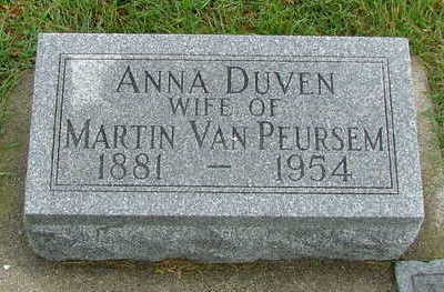 VANPEURSEM, ANNA - Sioux County, Iowa | ANNA VANPEURSEM