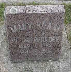KRAAI VANREULDER, MARY  (MRS. W.) - Sioux County, Iowa | MARY  (MRS. W.) KRAAI VANREULDER