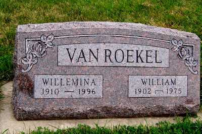 VANROEKEL, WILLMINA - Sioux County, Iowa | WILLMINA VANROEKEL