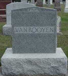 VANROOYEN, HEADSTONE - Sioux County, Iowa | HEADSTONE VANROOYEN