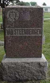 VANSTEENBERGEN, HEADSTONE - Sioux County, Iowa | HEADSTONE VANSTEENBERGEN
