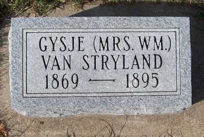 VANSTRYLAND, GYSJE (MRS. WM.) - Sioux County, Iowa | GYSJE (MRS. WM.) VANSTRYLAND