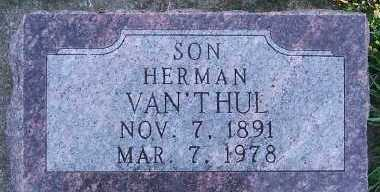 VANTHUL, HERMAN - Sioux County, Iowa | HERMAN VANTHUL