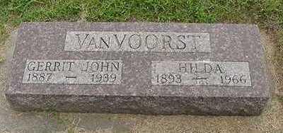 VANVOORST, GERRIT JOHN - Sioux County, Iowa | GERRIT JOHN VANVOORST