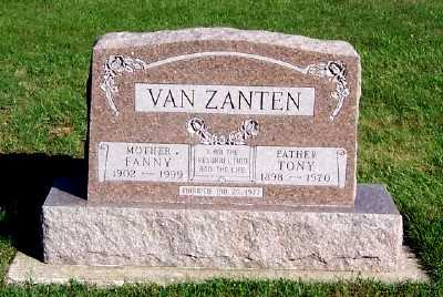 VANZANTEN, TONY - Sioux County, Iowa | TONY VANZANTEN