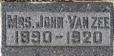 VANZEE, MRS. JOHN - Sioux County, Iowa | MRS. JOHN VANZEE