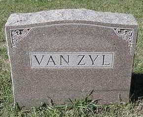 VANZYL, HEADSTONE - Sioux County, Iowa | HEADSTONE VANZYL