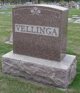 VELLINGA, HEADSTONE - Sioux County, Iowa | HEADSTONE VELLINGA