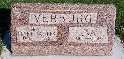 VERBURG, KLAAS - Sioux County, Iowa | KLAAS VERBURG