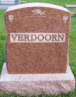 VERDOORN, HEADSTONE - Sioux County, Iowa | HEADSTONE VERDOORN