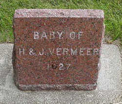 VERMEER, BABY OF H. & J. - Sioux County, Iowa | BABY OF H. & J. VERMEER