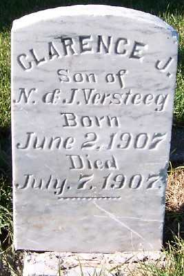 VERSTEEG, CLARENCE J. (SON OF N.&J.) - Sioux County, Iowa | CLARENCE J. (SON OF N.&J.) VERSTEEG