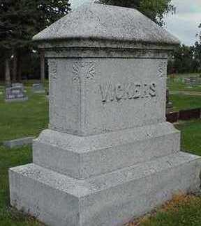 VICKERS, HEADSTONE - Sioux County, Iowa | HEADSTONE VICKERS