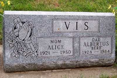 VIS, ALICE - Sioux County, Iowa | ALICE VIS
