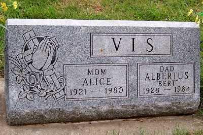 VIS, ALBERTUS (BERT) - Sioux County, Iowa | ALBERTUS (BERT) VIS
