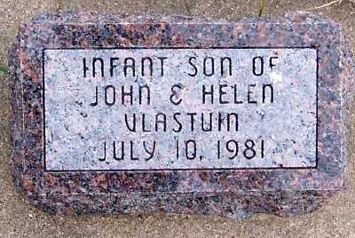 VLASTUIN, INF SON OF JOHN & HELEN - Sioux County, Iowa | INF SON OF JOHN & HELEN VLASTUIN