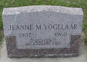 VOGELAAR, JEANNE M. - Sioux County, Iowa | JEANNE M. VOGELAAR
