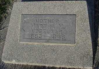 VOGELAAR, MARTHA M. - Sioux County, Iowa   MARTHA M. VOGELAAR