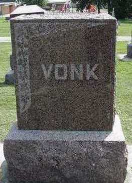VONK, HEADSTONE - Sioux County, Iowa | HEADSTONE VONK