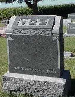 VOS, HEADSTONE - Sioux County, Iowa | HEADSTONE VOS
