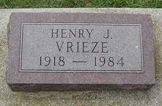 VRIEZE, HENRY J. - Sioux County, Iowa | HENRY J. VRIEZE