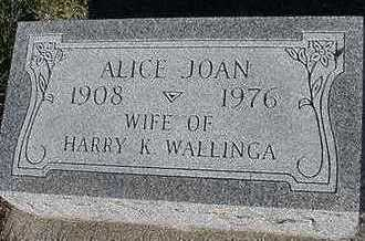 WALINGA, ALICE - Sioux County, Iowa | ALICE WALINGA