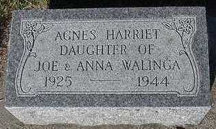 WALINGA, AGNES HARRIET - Sioux County, Iowa | AGNES HARRIET WALINGA