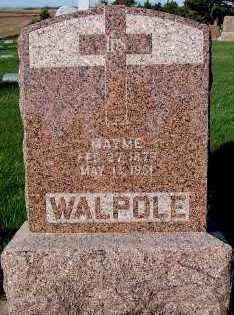 WALPOLE, HEADSTONE - Sioux County, Iowa | HEADSTONE WALPOLE
