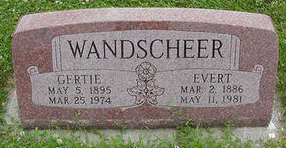 WANDSCHEER, EVERT - Sioux County, Iowa | EVERT WANDSCHEER