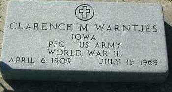 WARNTJES, CLARENCE M. - Sioux County, Iowa | CLARENCE M. WARNTJES