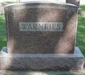 WARNTJES, HEADSTONE - Sioux County, Iowa | HEADSTONE WARNTJES
